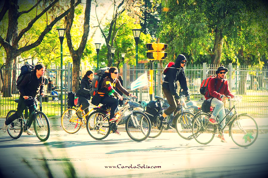 On wheels, Buenos Aires